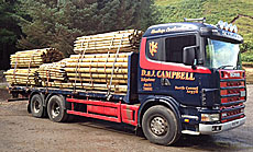 D and J Campbell loaded with fencing materials